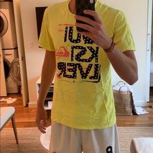 Quiksilver neon t shirt